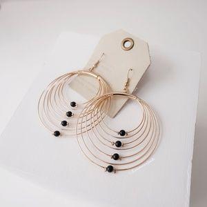 Anthropologie Circle Beads Earrings